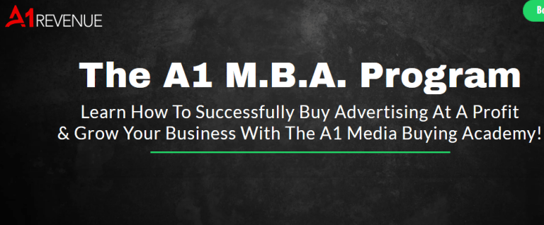 A1 Revenue – The A1 Media Buying Academy 2019